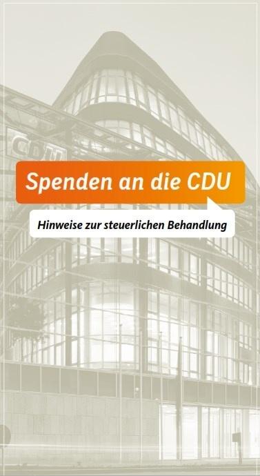 Hinweise zu Spenden an die CDU