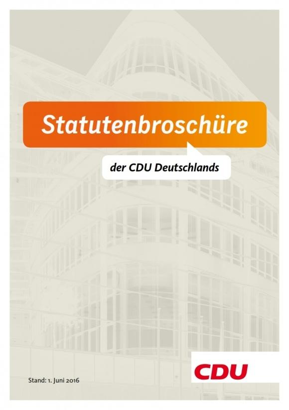Die Statuten der CDU Deutschlands