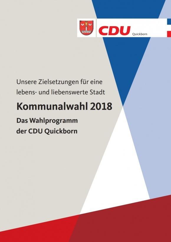 Das Wahlprogramm der CDU Quickborn zur Kommunalwahl 2018