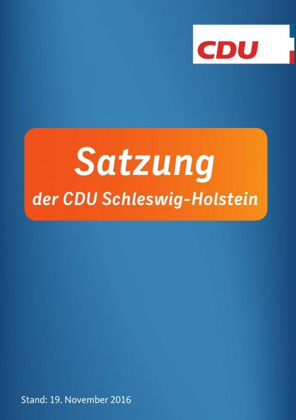 Die Satzung der CDU Schleswig-Holstein